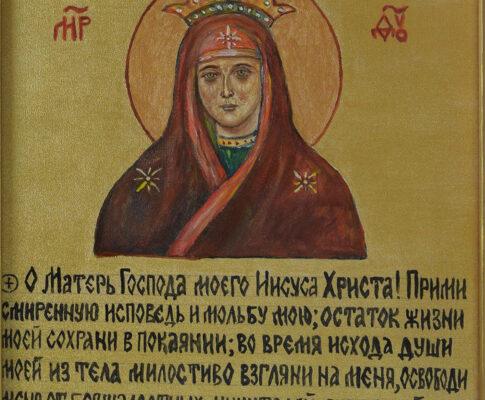 Образ Божией Матери в камне возле храма Воскресения Христова (г.Минск)
